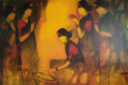 Untitled | Painting by artist Sachin Sagare | acrylic | Canvas
