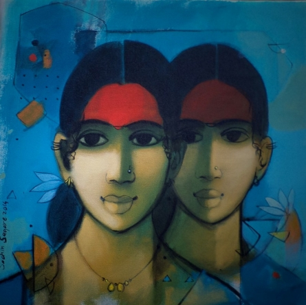 Sachin Sagare | Acrylic Painting title Simplicity on Canvas