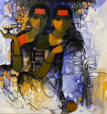 Figurative Acrylic Art Painting title The Indian Woman 6 by artist Sachin Sagare