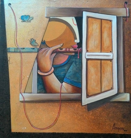 Love | Painting by artist Anupam Pal | acrylic | Canvas