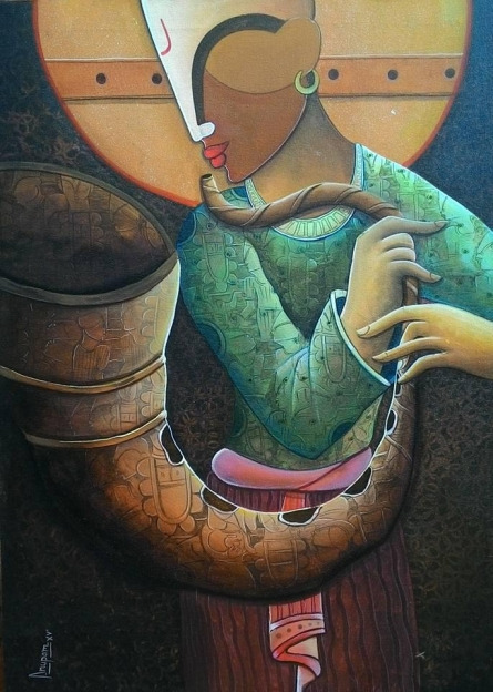Rhythm Devine 15 | Painting by artist Anupam Pal | acrylic | Canvas