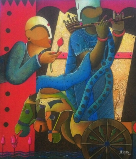 Parthasarathi 7 | Painting by artist Anupam Pal | acrylic | Canvas