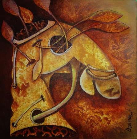 Animals Acrylic Art Painting title 'Untiteld 2' by artist Anupam Pal
