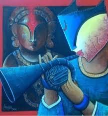 Rhytam devine 17   Painting by artist Anupam Pal   acrylic   Canvas
