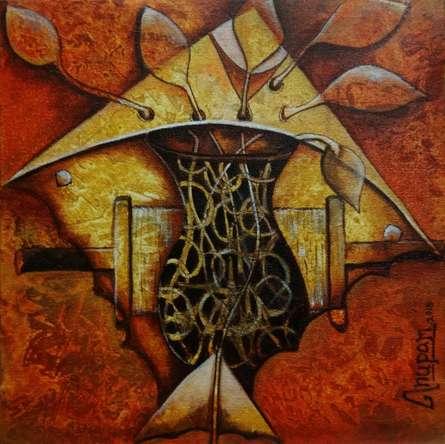 Figurative Acrylic Art Painting title 'Untiteld 1' by artist Anupam Pal