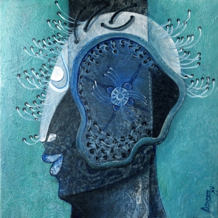 Figurative Acrylic Art Painting title 'Untitled 6' by artist Anupam Pal