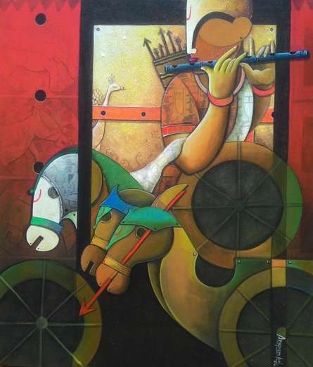 Parthasarathi 8 | Painting by artist Anupam Pal | Acrylic | Canvas