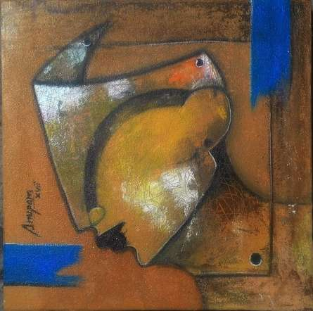 Mask-1 | Painting by artist Anupam Pal | acrylic | Canvas