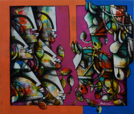 Anupam Pal | Power Of Speed 3 Mixed media by artist Anupam Pal on canvas | ArtZolo.com