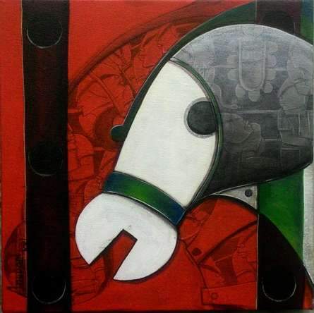 Focus on | Painting by artist Anupam Pal | acrylic | Canvas