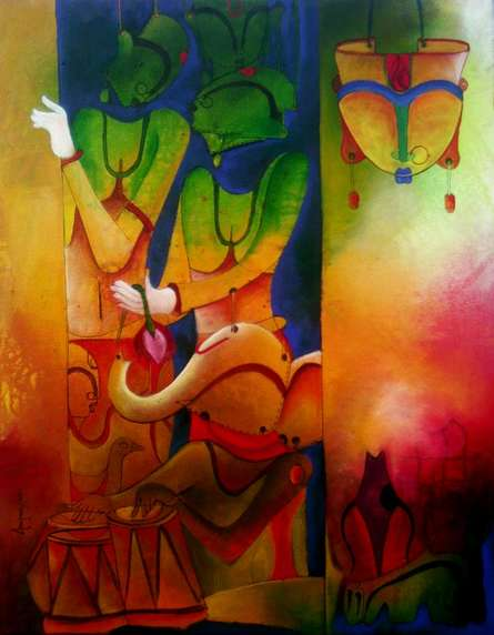 The Invinciblle-3 | Painting by artist Anupam Pal | acrylic | Canvas