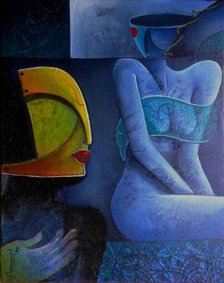 Untitled7 | Painting by artist Anupam Pal | acrylic | Canvas