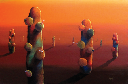 Budding Cosmos - 7 | Painting by artist Jagesh Edakkad | acrylic | Canvas