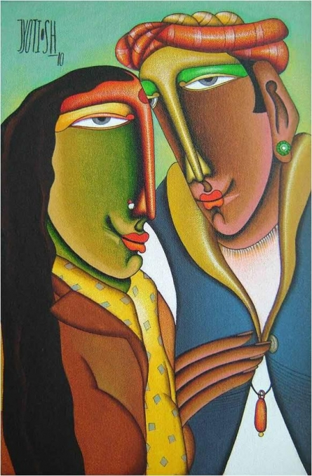 Mixed Media Painting titled 'Desire 1' by artist Jyoti Hatarki on Canvas Board