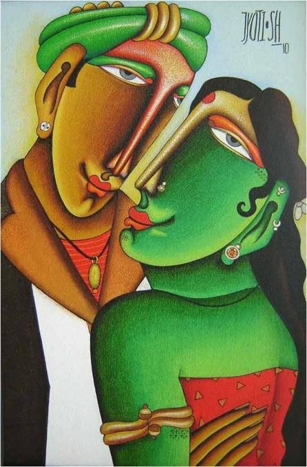 Desire 2 | Mixed_media by artist Jyoti Hatarki | Canvas Board