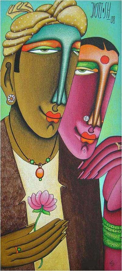 Jyoti Hatarki | Desire 6 Mixed media by artist Jyoti Hatarki on Canvas Board | ArtZolo.com