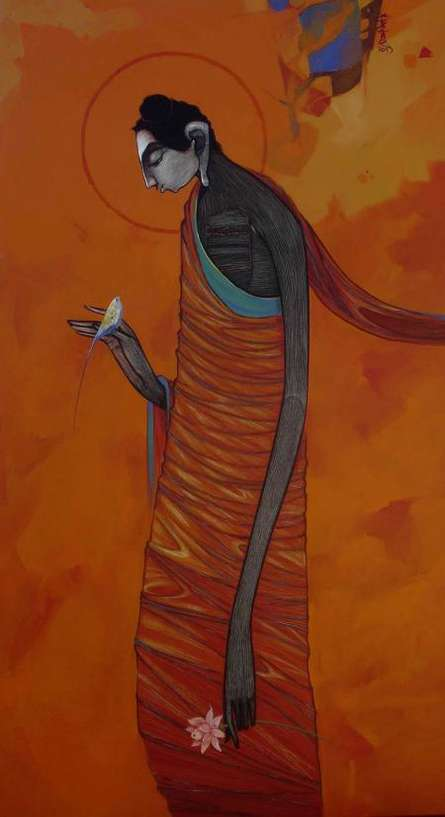Buddha 2 | Painting by artist Sanjay Sable | acrylic | Canvas