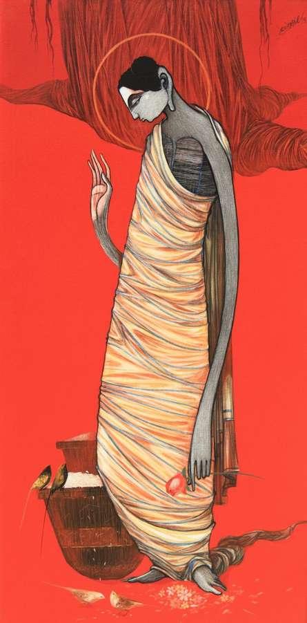 Buddha 7 | Painting by artist Sanjay Sable | acrylic | Canvas
