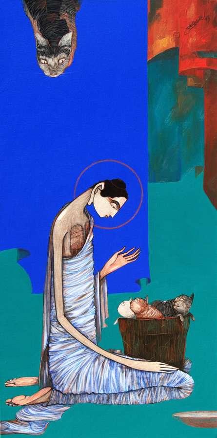 Buddha 8 | Painting by artist Sanjay Sable | acrylic | Canvas