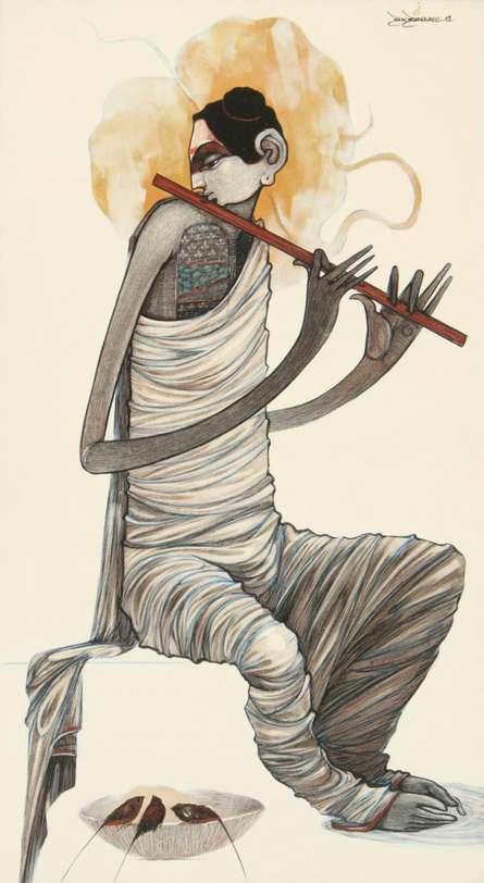 Buddha 9 | Painting by artist Sanjay Sable | acrylic | Canvas