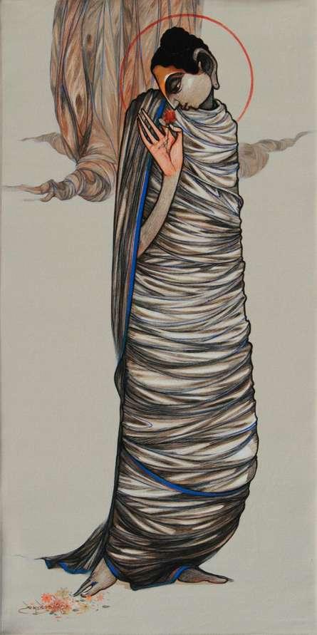 Buddha 11 | Painting by artist Sanjay Sable | acrylic | Canvas