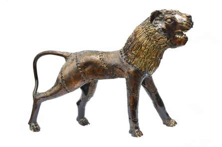 Bastar Tiger | Craft by artist Bhansali Art | Brass