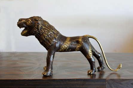 Kushal Bhansali | Baster Tiger 3 Sculpture by artist Kushal Bhansali on Brass | ArtZolo.com