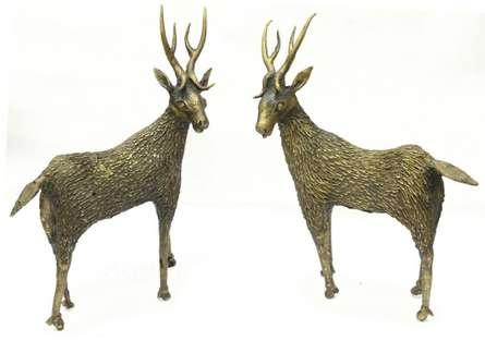Deer Standing | Craft by artist Bhansali Art | Brass