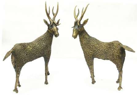 Deer Standing | Craft by artist Bhansali Art | Brass