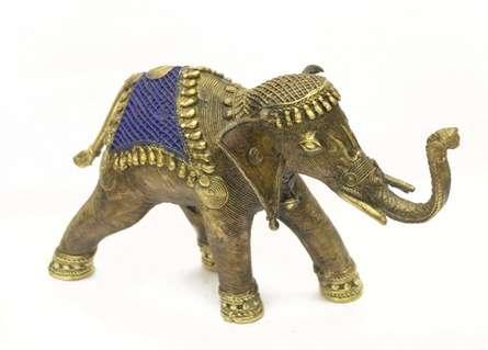 Elephant Rider | Craft by artist Bhansali Art | Brass