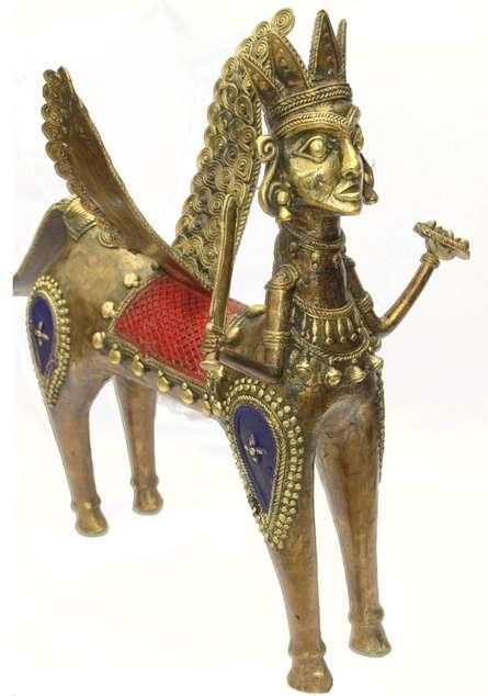 Flying Horse   Craft by artist Bhansali Art   Brass