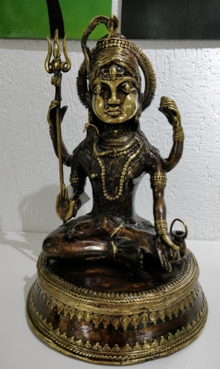 Brass Sculpture titled 'Lord Shiva 2' by artist Kushal Bhansali