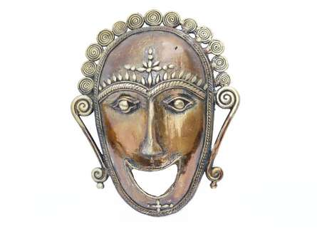 Mask | Craft by artist Bhansali Art | Brass