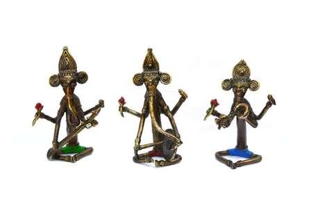 Musician Ganesha | Craft by artist Bhansali Art | Brass