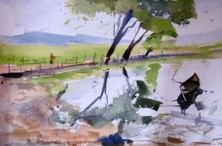 surrealism | Painting by artist Prafulla Taywade | watercolor | Paper
