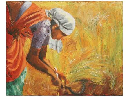 Vignesh Kumar | Acrylic Painting title Harvest on canvas | Artist Vignesh Kumar Gallery | ArtZolo.com