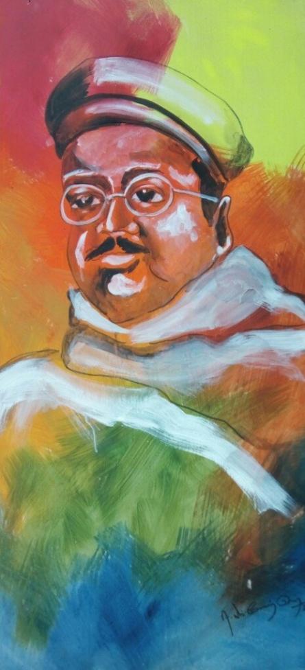 Portrait   Painting by artist Vignesh Kumar   acrylic   CardBoard