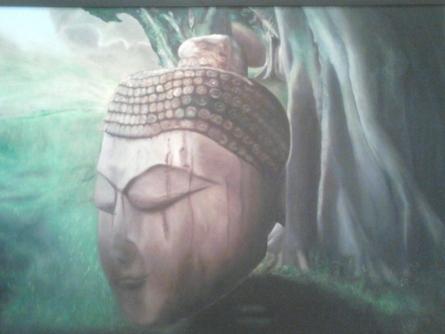 Buddha | Painting by artist Seema Jain | oil | Canvas Board