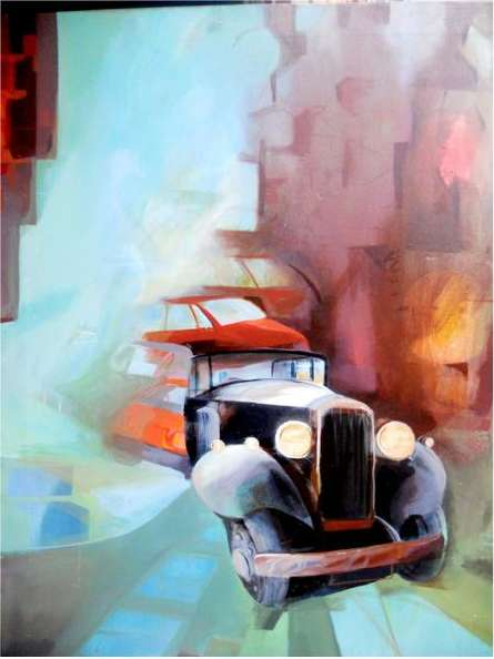 Lifestyle Acrylic Art Painting title 'The Sun Light' by artist Jyotirmoy Bhuyan