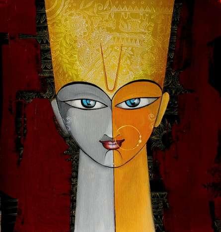 Incarnation II | Painting by artist Meenakshi Jha Banerjee | acrylic | Canvas