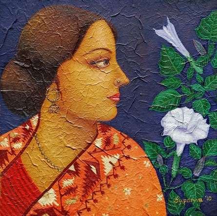 Charulata II | Painting by artist Suparna Dey | oil | Canvas