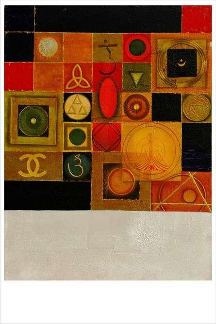 Yogic Mantra 1 | Mixed_media by artist Anurag Swami | Canvas