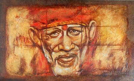 Sai Baba II | Painting by artist Anurag Swami | oil | Canvas