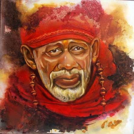 Sai Baba I | Painting by artist Anurag Swami | oil | Canvas