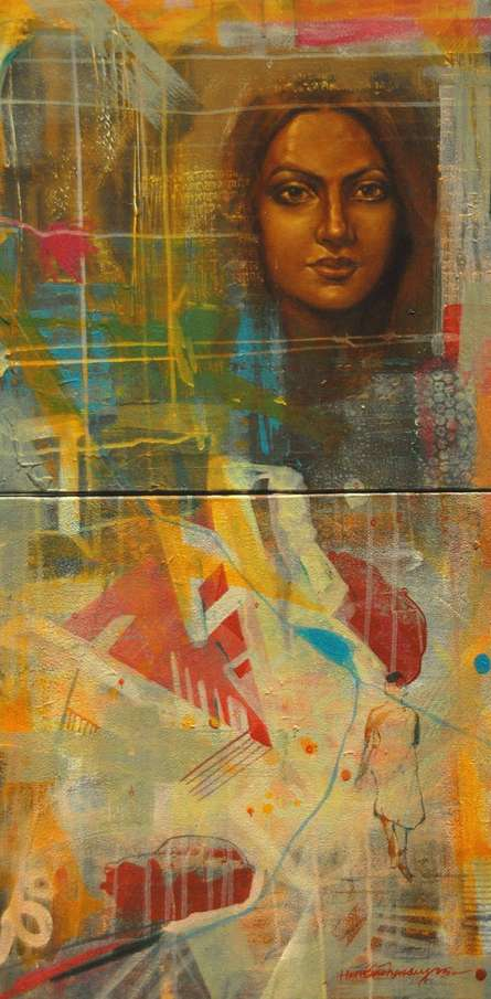 Journey Of Life | Painting by artist Harisadhan Dey | Oil | Canvas