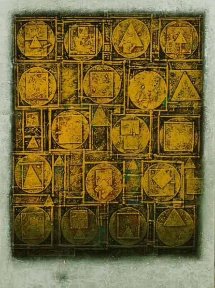 Abstract Acrylic Art Painting title Unitled 1 by artist Basuki Dasgupta