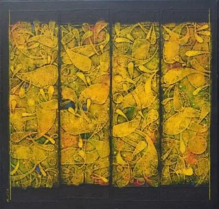 Untitled 2 | Painting by artist Basuki Dasgupta | acrylic | Canvas