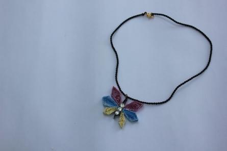 Paper Jewellery - 1   Paper, thread Handicraft   By Navodyami Program
