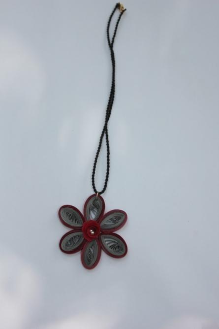 Paper Jewellery - 6   Paper, thread Handicraft   By Navodyami Program