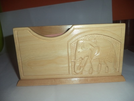 Pen stand cum notepad holder | Wood Handicraft | By Navodyami
